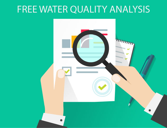 Free Water Quality Analysis illustration