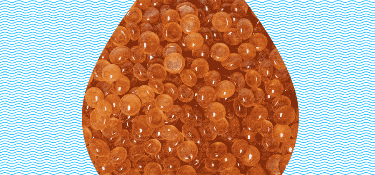 Resin microbeads from an ion exchange system